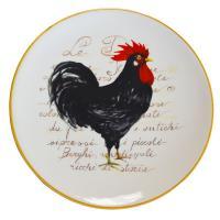 Декоративная и сервировочная тарелка с пасхальной росписью «Важная птица»