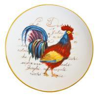 Тарелка для декора и сервировки праздничного стола «Разноцветные перышки»