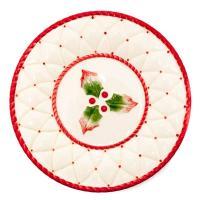 Набор новогодних тарелок 20 см, 6 шт