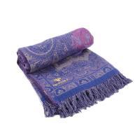 Плед из смесовой шерсти фиолетового цвета Indigo Paisley