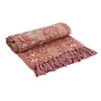 Плед рыжего цвета с восточным орнаментом Linear Paisley