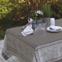 Скатерть серо-коричневая с тефлоновым покрытием