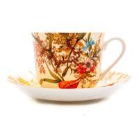 Чашка большая с блюдцем Cottage Blossom