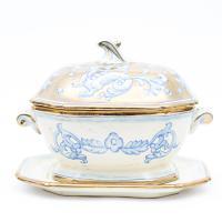 Супница с тарелкой Oro Antico