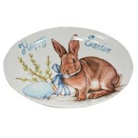 Овальное блюдо для весеннего праздничного стола «Пасхальный кролик»