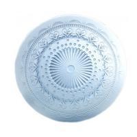 Тарелка стеклянная десертная голубая