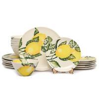 """Сервиз столовый из керамики на 6 персон """"Солнечный лимон"""""""