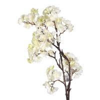 Искусственное цветение Персика белого цвета