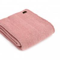 Плед жемчужно-розовый Herringbone