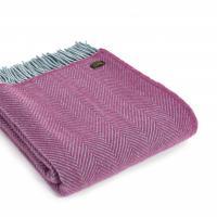 Плед фиолетовый Herringbone