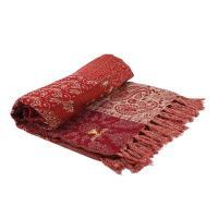 Плед из смесовой шерсти в стиле пэчворк Welsh Maze
