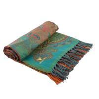 Плед с узором разноцветный из шерсти и хлопка Zen Desire