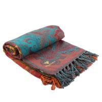 Плед разноцветный с флористическим орнаментом Zen Desire