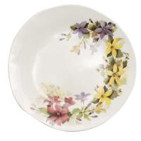 Обеденная тарелка с орнаментом из весенних мотивов «Цветочное настроение»