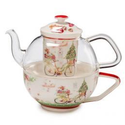 """Заварник и чашка для чая """"Теплые поздравления"""""""