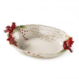 """Нарядный салатник с лепным декором """"Рождественские эмоции"""""""