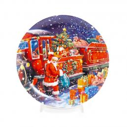"Набор новогодних десертных тарелок ""Добрый Санта"", 2 шт"