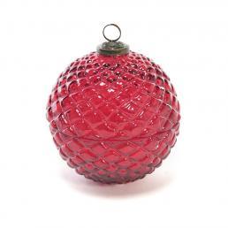 """Свеча ароматическая в красном стеклянном шаре """"Новогодний шар"""""""