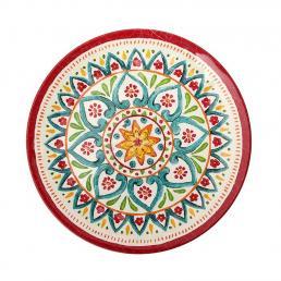 Тарелка десертная из меламина с этничным орнаментом Maya