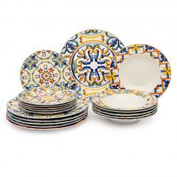 Фарфоровый сервиз на 6 персон из тарелок трех видов Medicea