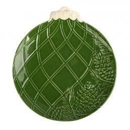 """Тарелка десертная зеленая """"Новогоднее чудо"""" Bordallo"""