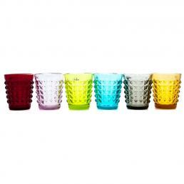 Набор из 6-ти стаканов разных цветов Tiffany