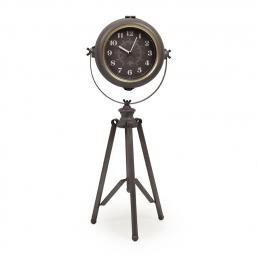 Часы напольные металлические на треноге Pier Loft Clocks & Co