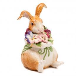 Емкость для печенья Кролик с цветами