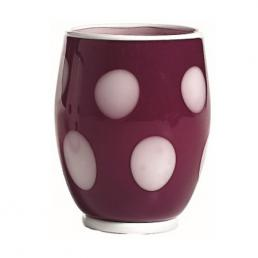 Стакан фиолетового цвета в белый горошек Bon bon