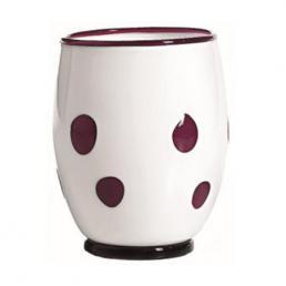 Стакан белого цвета в фиолетовый горошек Bon bon