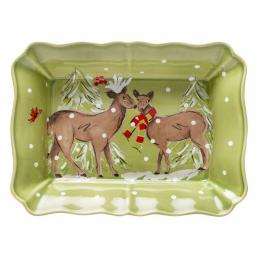 Форма для выпекания большая зеленая Deer Friends Casafina