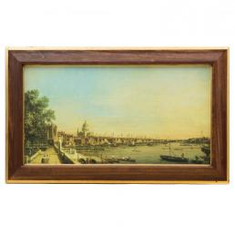 """Большая картина """"Вид на Темзу"""" Антонио Каналетто, репродукция"""