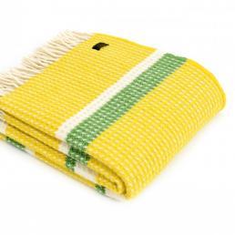 Плед Tweedmill Wafer 150×183 см желтый