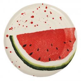 """Обеденная тарелка с рисунком арбуза """"Фруктовый коктейль"""""""