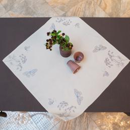 Наперон Villa Grazia Нежные бабочки 85×85см