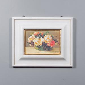 Репродукция картины Decor Toscana  Розы в металлической вазе 53×43 см