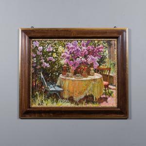 Репродукция картины Decor Toscana Ваза с цветами 87×71 см