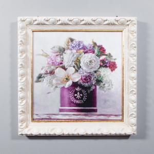 Репродукция картины Decor Toscana Ваза с фрезиями 50×50 см