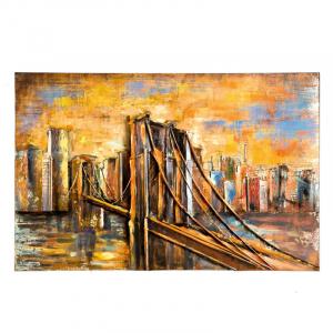 """Металлическая 3D картина """"Бруклинский мост"""""""