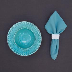 Салфетка столовая голубая