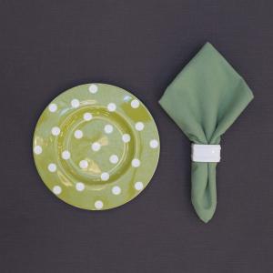 Салфетка тканевая столовая зеленая