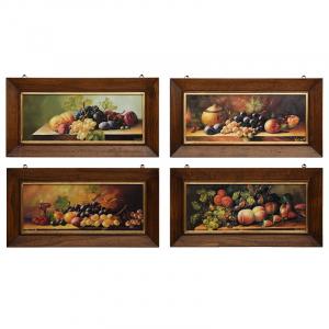 """Набор из 4-х прямоугольных картин с фруктами """"Натюрморты"""""""