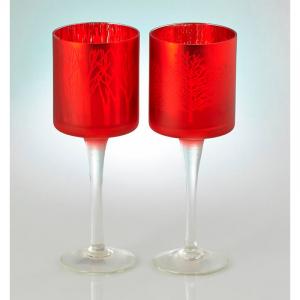 Подсвечник Красный бокал