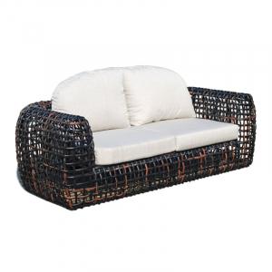 Диван 2-х местный с плетеной основой из ротанга Dynasty