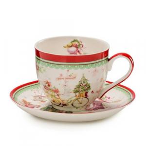 """Чайная чашка с блюдцем """"Теплые поздравления"""""""