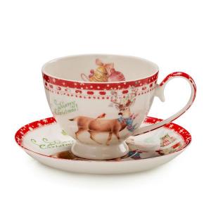"""Чашка для чая с блюдцем """"Теплые поздравления"""""""