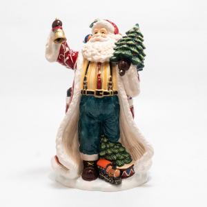 """Статуэтка """"Дед Мороз с елкой и колокольчиком"""""""