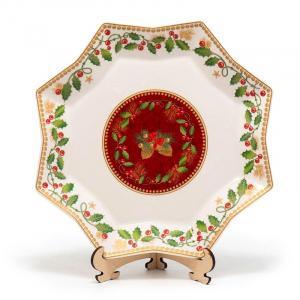 """Блюдо новогоднее восьмигранное """"Счастливые дни"""""""