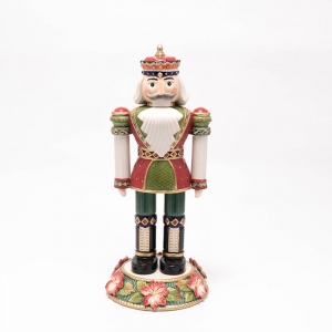 Статуэтка Щелкунчик на цветочном пьедестале