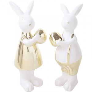 Статуэтки пара кроликов Golden shine